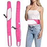 Electric Vibration Slimming Belt, Fitness Massager Fat Burning Body Slimming Belt Belly Wrap Belt Weight Losing Machine Electric Vibration Massage Belt for Weight Loss Detox(Pink)