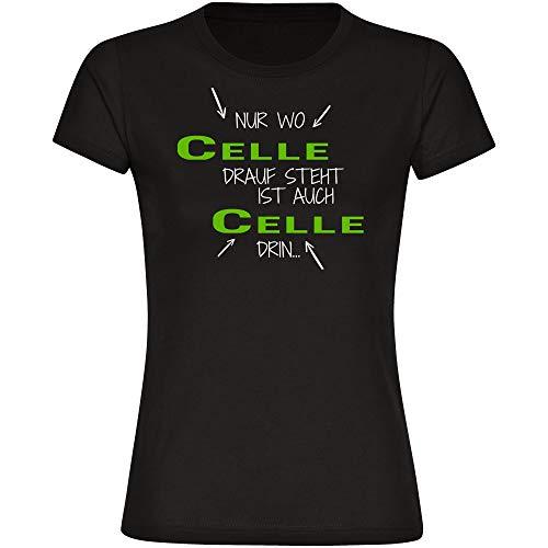 T-Shirt Nur wo Celle drauf steht ist auch Celle drin schwarz Damen Gr. S bis 2XL, Größe:XL
