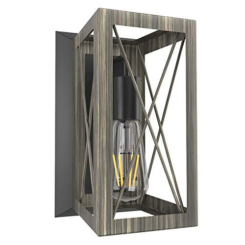 Klighten Lámpara de Pared Vintage Industrial Edison luz E27 Iluminación de Pared Retro Interior Lámparas de Pared LED para la Salon, Cocina, Desván, Restaurante, Cafe(Bombillas No Incluidas)