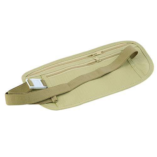 Greatangle Unisex Compact Cash Reisepass Ticket Reißverschlusstasche Sicherheitsgurt Taschen mit elastischem verstellbarem Gurt Sicherheit Gürteltasche