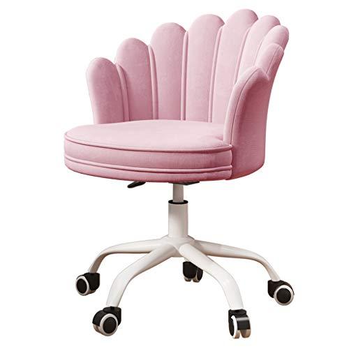 K-DESIGN Drehstuhl Samt, Bürostuhl mit abnehmbarem waschbarem Kissen, ergonomischer Schreibtischstuhl mit Hebeverstellung, Wohnzimmer im Home Office