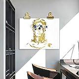 Unbekannt Lady Gerechtigkeit Kunst Leinwand Malerei Bild Jura Student Geschenk Anwalt Poster Aquarell Kunstdrucke Anwaltskanzlei Wandkunst -50x70 cm Kein Rahmen