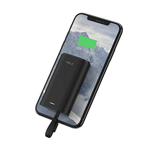 iWALK Klein Power Bank 9000mAh, Tragbares Externes Ladegerät mit Integrierte Kabel Mini Fast Charge Powerbank Kompatibel mit iPhone 11, iPhone 11 Pro, XS, XR, X, 8, 7, AirPods, iPod, Samsung und mehr