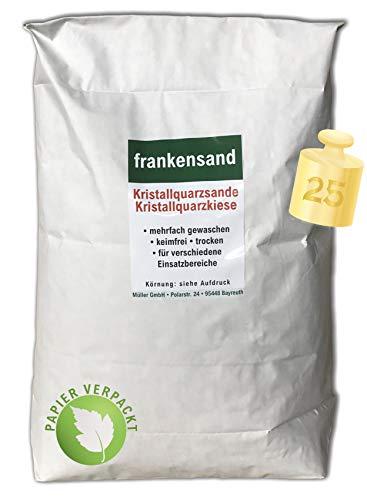 Müller GmbH 25 kg Filtersand Filterkies Kristallquarzsand Quarzsand für Sandfilteranlagen Papiersack (0,8-1,6 mm)