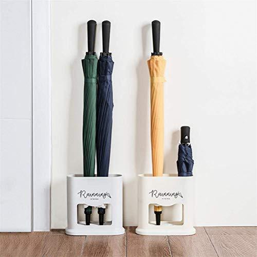 Paragüero Mallalah para paraguas, soporte para paraguas, paraguas, estante de almacenamiento de drenaje, organizador de ahorro de espacio, apto para interiores, exteriores, pasillo, coche, etc, gris