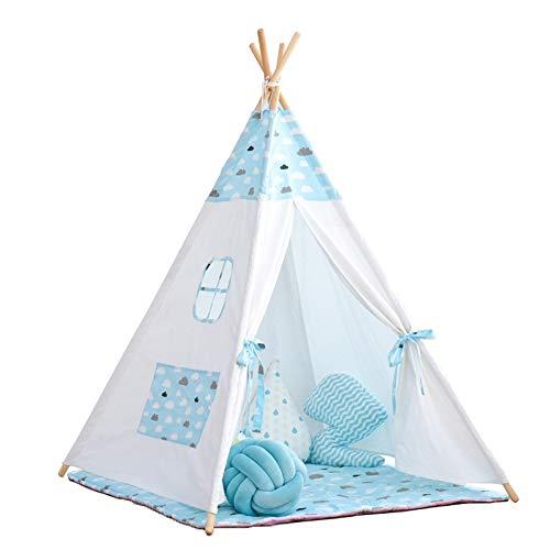 Regalos para Niños De los niños de la tienda casa del juego muchacha del muchacho de cubierta exterior for niños Casa del juguete Tiendas de Juguete ( Color : Blue , Size : 120x120x160cm )