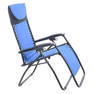 Azuma Padded Zero Gravity Chair - 100 kg Weight Capacity