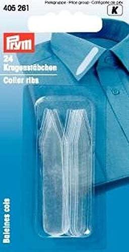 Varillas p. cuello de camisa pl. 10x55 mm trans.