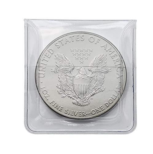 Lindner Münzen-Hüllen Nr. 2051, 2050 aus glasklarer PVC-Folie. - 25, 50, 100, 500 Stk. zur Auswahl (25)