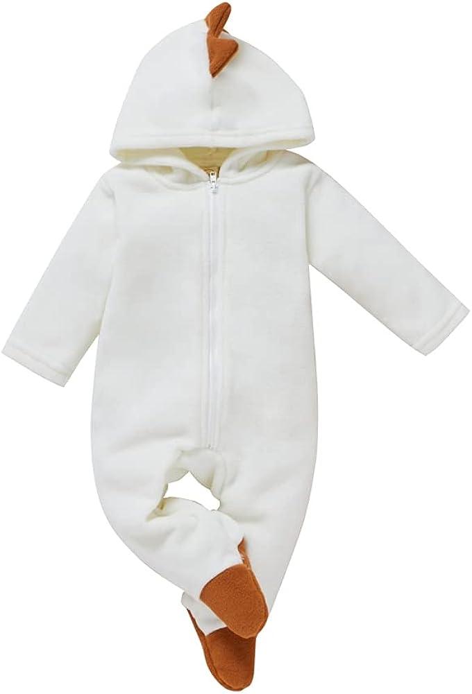 Colorado Springs Mall Unisex Baby Boy Super intense SALE Girl Footies Sleepsuit Flee Warm Jumpsuit Winter