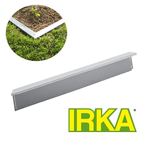 IRKA Rasenkante BREIT 14 cm hoch inkl. Klicksystem + doppelter Korrosionsschutz + Versteifungskante