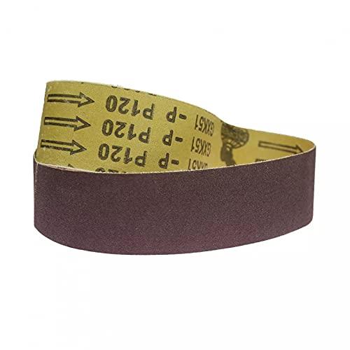 BINGXY 10 Piezas de Bandas abrasivas de Lijado de 915x50 mm para Pulido de Pulido de Metal Suave de Madera