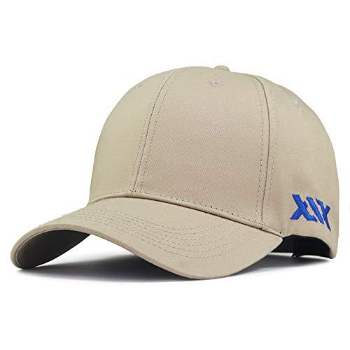 Sombrero de Primavera y Verano Gorra de béisbol Grande para Hombres Sombrero de Sol de Gran tamaño Tapa Dura Aumentar Marea de Gorra de Cabeza Grande de Gran tamaño
