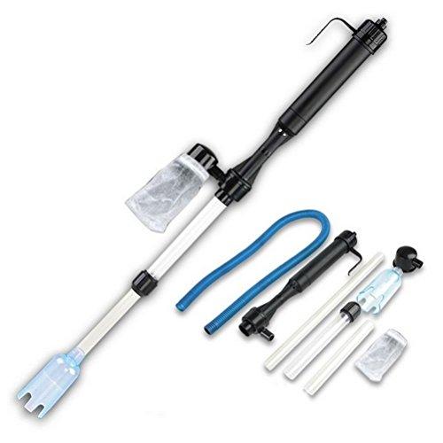 UEETEK Kiesreiniger Aquarium Batterie Siphon betriebener Fischbehälter Vakuum Wasserfilter Siphon Filter Reiniger für Reinigung Kies