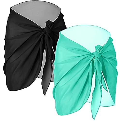 2STKS - Vestido de playa para mujer, de gasa, para vacaciones, natación verde menta Tallaúnica