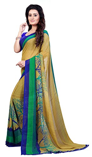Anand Sarees Georgette Saree With Blouse Piece (1341_Multicolor_Free Size)