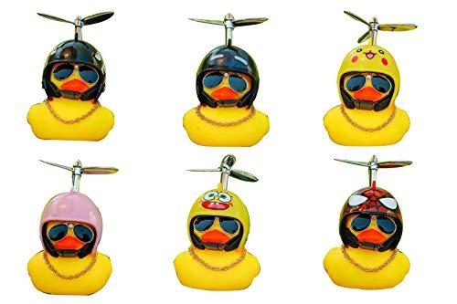 6 piezas de accesorios de coche de bicicleta eléctrica casco de bicicleta decoración de coche equilibrio pato coche
