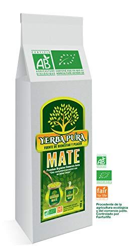 Yerba Mate-Bio-400g: Maté Yerba Premium Origine Brésil 100% Naturel Bio. Yerba Maté Artisanal Cueilli à la Main, Séchage à l'air. Le Mate Booster Quotidien d'énergie pour un Esprit Vif