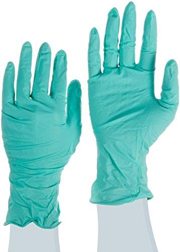 Ansell NeoTouch 25-101 Neoprenhandschuhe, Lebensmittelindustrie, Hellgrün, Größe 7.5-8 (100 Handschuhe pro Spender)