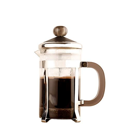 Vobajf Caffettiere a pistone Coffee Pot Domestica di Vetro French Press Vaso di Vetro tè e caffè Filtro French Press Pot French Press Filtro Cup cafetieres (Colore : Stainless Steel, Size : 800ml)
