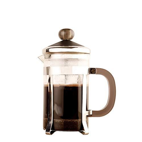 Vobajf Caffettiere a pistone Coffee Pot Domestica di Vetro French Press Vaso di Vetro tè e caffè Filtro French Press Pot French Press Filtro Cup cafetieres (Colore : Stainless Steel, Size : 800ml)