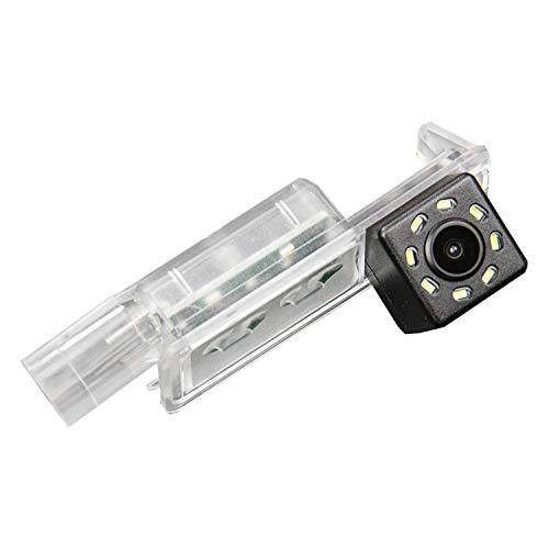 HD 720p Farb Rückfahrkamera in Kennzeichenbeleuchtung Kamera Einparkhilfe mit Distanzlinien für SEAT Ibiza FR Polo 6R Golf 7 MK7/VII/Skoda Scirocco/Seat Leon/Seat Leon 5F/Lamando ROC ROC