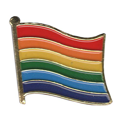 Gay & Lesbian Pride Rainbow LGBT LGBTQ+ Flag 1.25 Inch Lapel Pin