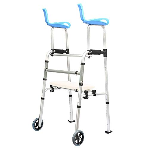 Find Bargain ZHUXIN Multi-Functional Walker, Foldable Detachable Armrests and Wheels, Suitable for D...
