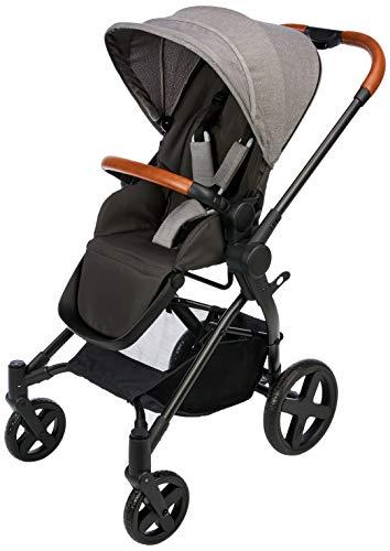 cbx Kinderwagen Kody Lux mit wendbarem Sportsitz, Mit Details in Leder-Optik, Inkl. Regenverdeck, Ab Geburt bis 15 kg, Comfy Grey