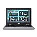 ASUS Chromebook クロームブック C223NA ノートパソコン(Celeron N3350 / 4GB / 32GB / 11.6型 / 999グラム / 日本語キーボード / グレー)C223NA-GJ0018 シルバー グーグル Google (整備済み品)
