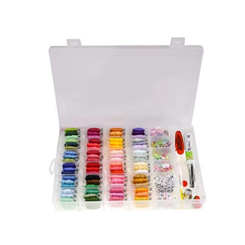 Hotaluyt 72 Colores Kit de Seda del Bordado Hilos de Perlas de Colores Carta Cintas determinadas Amistad Pulsera de Hilo