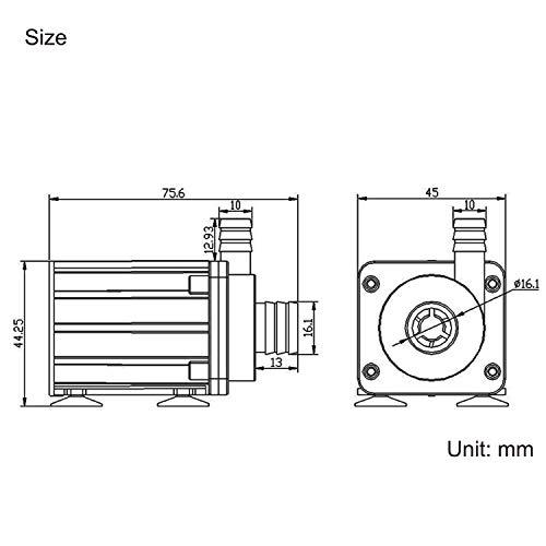Fafada DC 12V Micro Bürstenlos Magnetpumpe Wasserpumpe Teichpumpe Flüssigkeitspumpe - 4