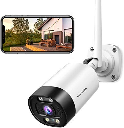 HeimVision HD 3MP WLAN IP Kamera Überwachungskamera aussen PIR-Bewegungserkennung Wasserdicht mit Nachtsicht WLAN Kamera Outdoor kompatibel mit iOS/Android