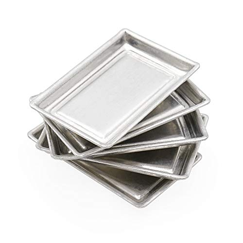 Odoria 1:12 Miniature 5Pcs Oven Pans Baking Supplies Dollhouse Kitchen Food Accessories