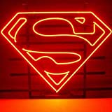 12'X9' Cool Neon Lights Red Logo Superman Arcade Man Cave Neon Sign Text No Vacancy Business Signs Board