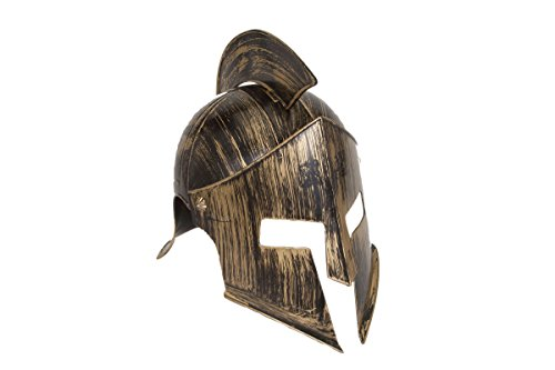 Jacobson Hat Company Men's Medieval Iron Knight Helmet, Gold, Adult