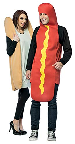 hilarious hot dog and bun couples costume for parties