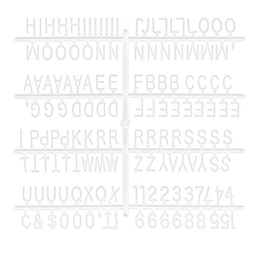 Bada Bing Erweiterungsset Buchstaben Weiß Letterboard Ersatzbuchstaben Für Alle Größen Board Memo Tafel 74