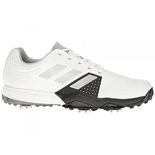 adidas Herren Adipower Boost 3 Golfschuhe Weiß (White/Silver Metallic/core Black) 46 EU