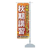 秋期講習 のぼり旗 サイズ選べます(スリム45x180cm 右チチ)
