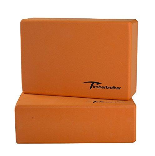 Timberbrother Juego de 2 Espuma EVA Bloques de Yoga(Naranja, 23 x 15 x...