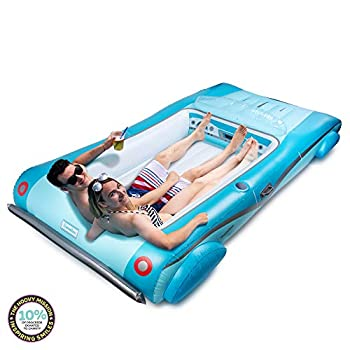 Hoovy Giant Convertible Car Inflatable Pool Float 105 x59 x19.5  Pool Float Ride On Convertible Car Inflatable Float Fun Beach Floaties Party Toys Summer Pool Raft Lounge for Adults & Kids