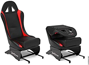 Extreme Simracing SEAT X Racing Simulator - Black/Red - Add-on For All Wheel Stands, Best for Extreme Simracing Models SPRO and SXT - Wheel and Pedals are Not Included