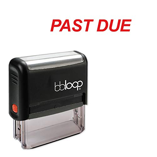 Past Due w/Italic Block Style Font and Design Self-Inking Rubber Stamp