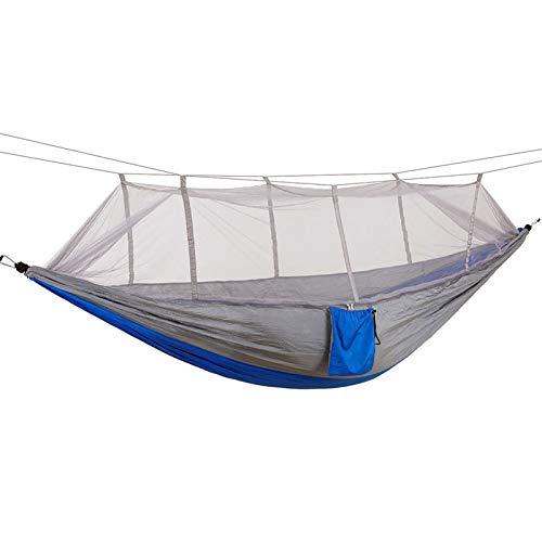 WBYY Camping Hamaca para Viaje y Camping, Nylon Portátil Paracaídas Secado Rápido, Mosquitero Hamaca Ultra Ligera,A