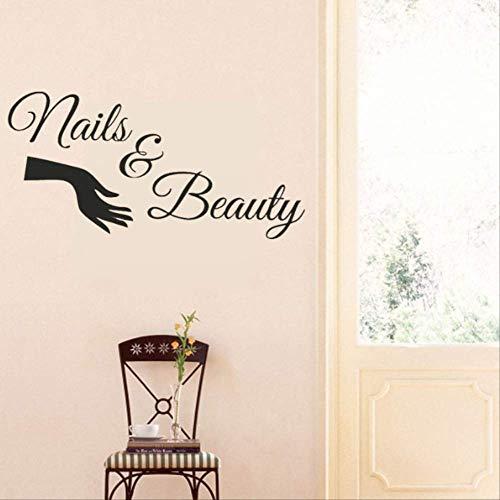 Muurstickers Nagellak Schoonheidssalon Meisjes Slaapkamer Decals Vinyl Thuis Kamer Verwijderbare Behang Mural voor Salon Decor 69X29Cm