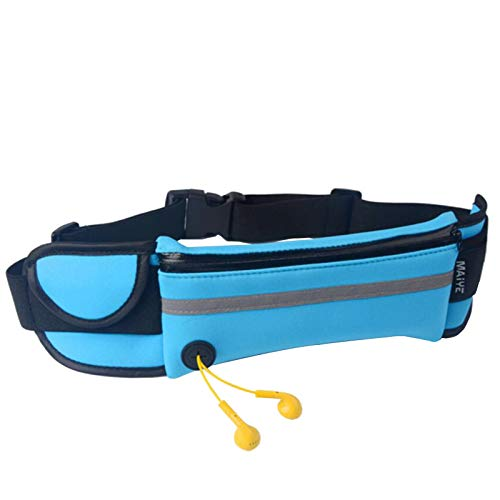 LQKYWNA Running & Cycling Belt Bag, Adjustable Waterproof Runner Belt, Sports Travel Belt Bag, Suitable For Travel with Various Mobile Phones