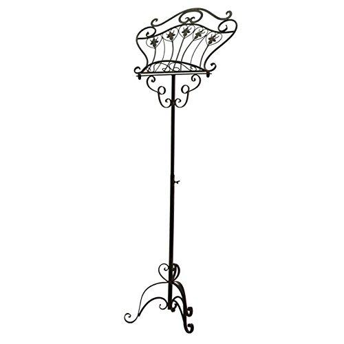 chemin_de_campagne Pupitre Chevalet Lutrin Porte Livre sur Pied Marron 155 cm