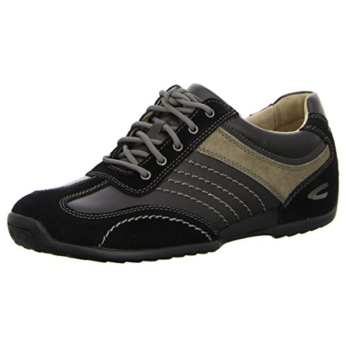 camel active Herren Space 12 Sneakers, Schwarz (black/grey), 40.5 EU