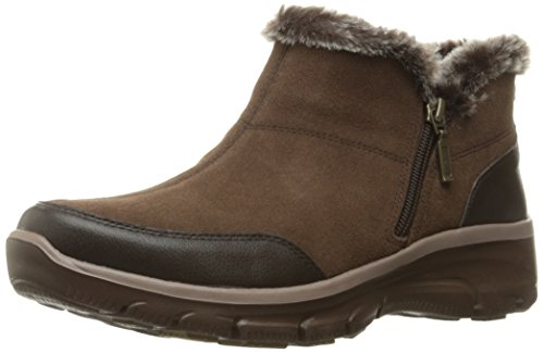 Skechers Women's Easy Going-Zip It Ankle Bootie,11 M US,Chocolate